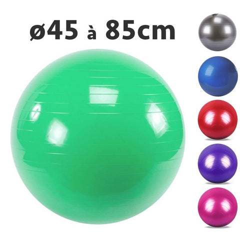 Swiss Ball Pilates anti-eclatement - vert