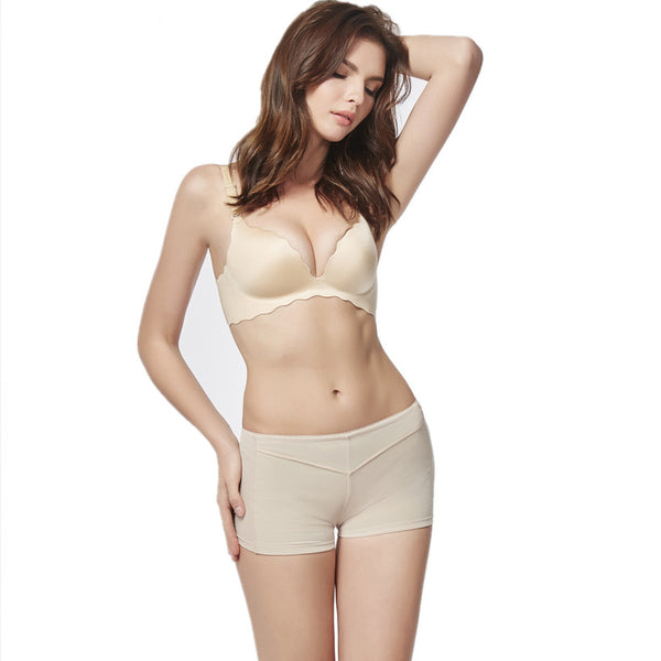 Shorty taille basse push-up couleur peau OPEN.SHAPER femme pour un aspect gainant