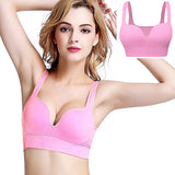 Brassière sport FitCurves rose girly