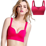 Brassière sport FitCurves rouge passion absorbe la transpiration
