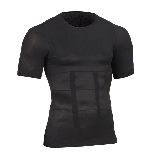 T-Shirt minceur de compression noir FLEX.SHAPER homme