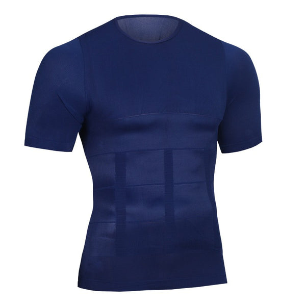 T-Shirt minceur de compression bleu FLEX.SHAPER homme