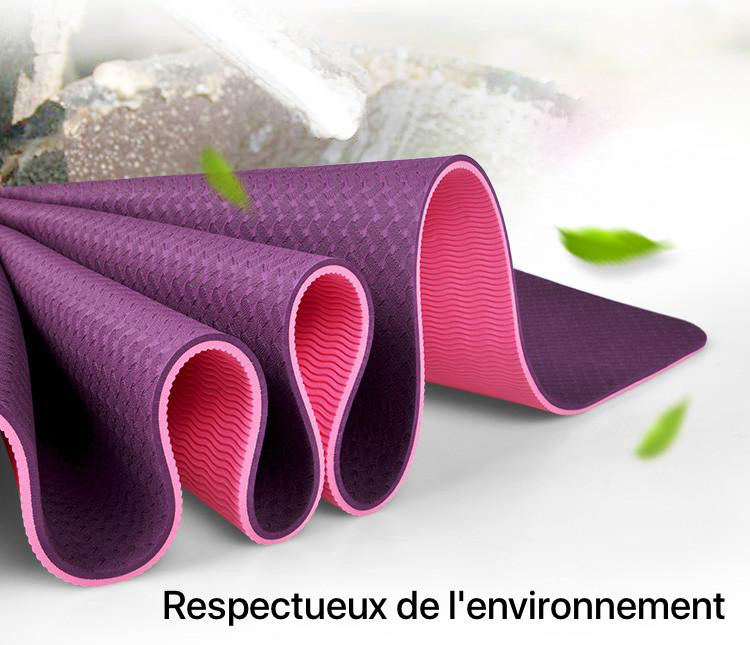 Tapis de Hatha Yoga confort bicolore eco-friendly