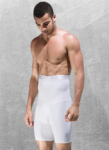 Short minceur de compression blanc FLEX.SHAPER homme pour un aspect gainant