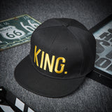 Casquette sport KING hip-hop couleur or