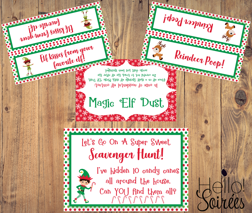 picture about Elf Kisses Printable referred to as Elf upon the Shelf Recreation Pack Hi! Soirees