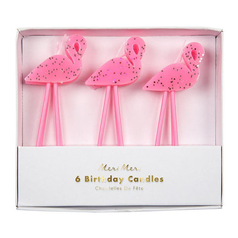 Flamingo Candles with Glitter  Tropical Candles