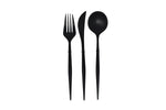 Modern Black Flatware, 12 pc