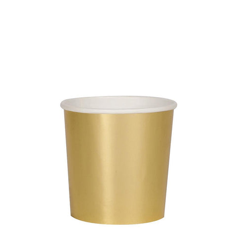 Metallic Gold Tumbler Cups