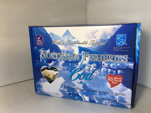 4oz., 6oz, or 8oz. MSC Pacific Cod Loins - 5 lb box