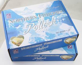 MSC 4-6oz Pollock Fillets  - 5lb Box