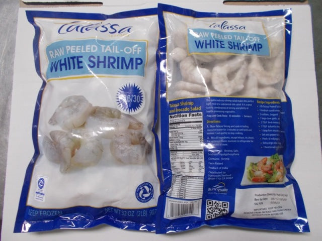 31/40CT Raw P&D Tail-Off Ecuador White Shrimp (3 Pack X 2lb)