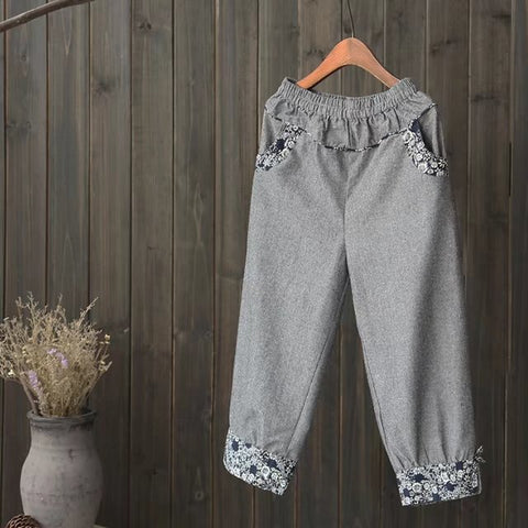 Hemp Seven Retro Casual Pants
