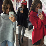 Scarf Collar Long Sleeve Pullovers