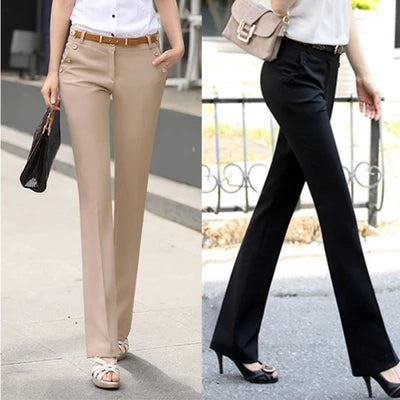 Casual Harem Flare Trousers