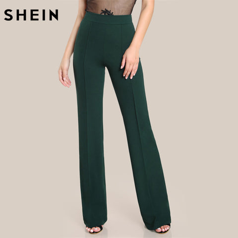 High Rise Piped Pants