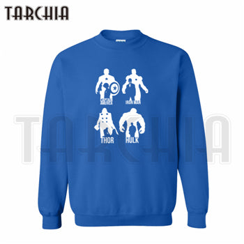 TARCHIA 2018 Free Shipping Super Hero Avangers Iron man Hulk Captain America hoodies sweatshirt personalized man coat casual