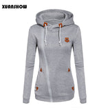 Fleece Hooded Candy Colors Pullover