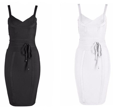 Black & White Cocktail Party Dress