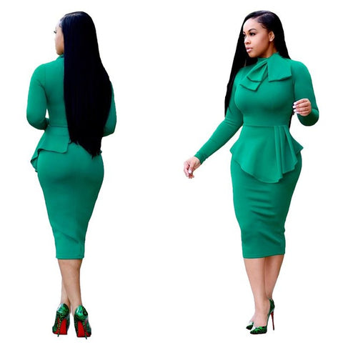 Bow Pinup Bodycon Pencil Style Dress