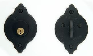 "Standard Single Cylinder Classic Rosette Deadbolt Set 2 3/8"" Backset"
