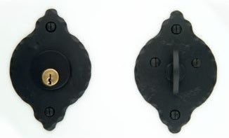 Standard Single Cylinder Classic Rosette Deadbolt Set 2 3/8