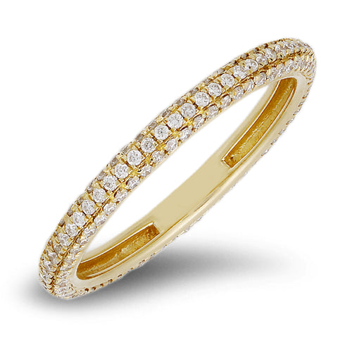 18K rose gold band with 0.49 CT diamonds