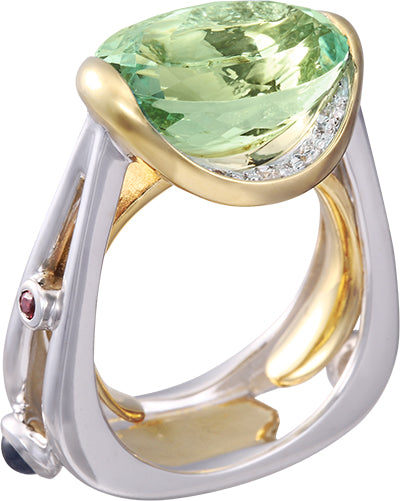 Denny Wong 18K White and Yellow Gold Ring