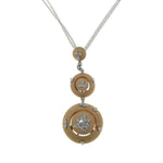 18k Rose Gold Diamond 0.55 Carat Weight (Total) Circle Pendant