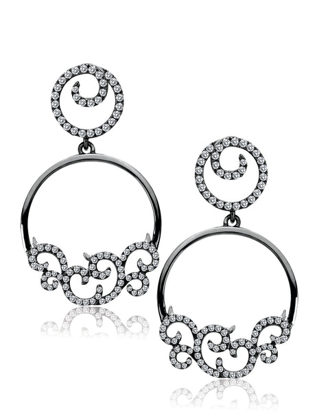 18K Black Rhodiumed Gold Diamond Earrings