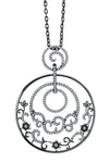 18K Black Gold Dream Pendant Diamond Necklace
