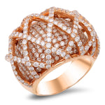 18K rose gold ring with 4.57 CT diamonds