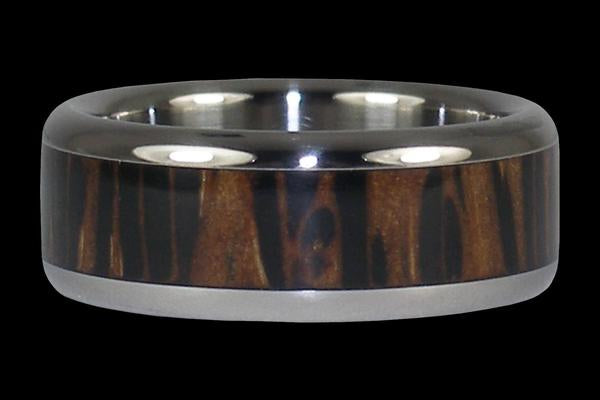 Palm Wood Titanium Ring