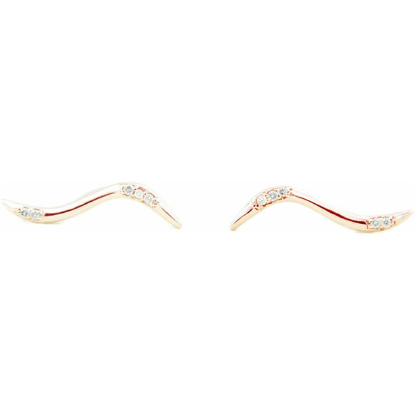 Current Earring 18K Rose Gold