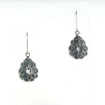 Sterling Silver Pear-Shaped Drop Earrings