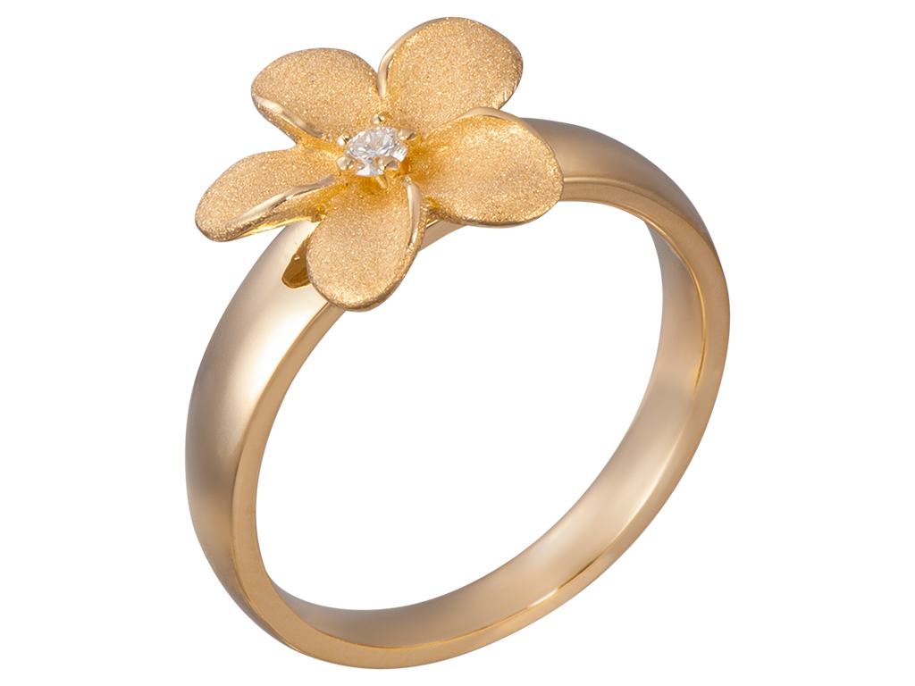Denny wong 14k yellow gold flower ring dolphingalleries denny wong 14k yellow gold flower ring mightylinksfo