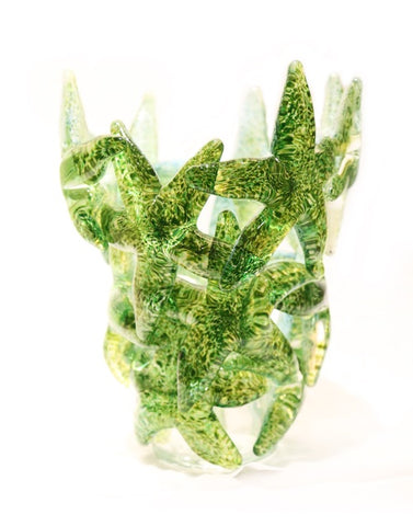 Green Starfish Cluster Vase