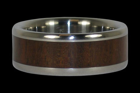 Ipe Wood Titanium Ring