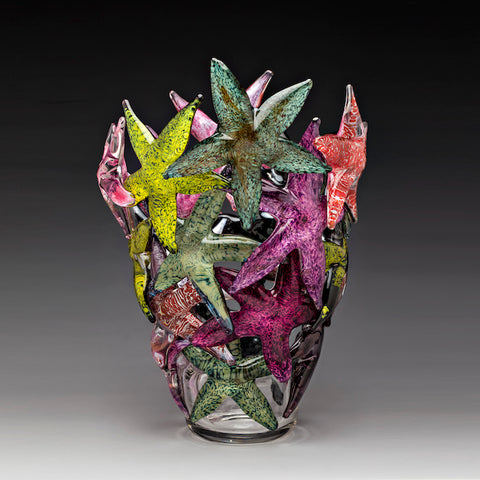 Multicolor II Starfish Cluster Vase