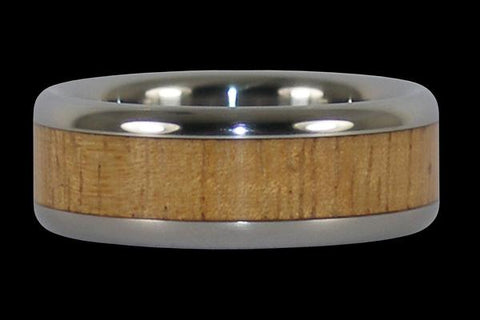 Light Koa Wood Titanium Ring