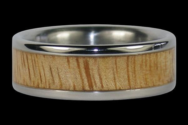 Mango Wood Titanium Ring Band