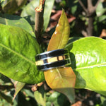 Black and White Ebony Big Kahuna Titanium Ring