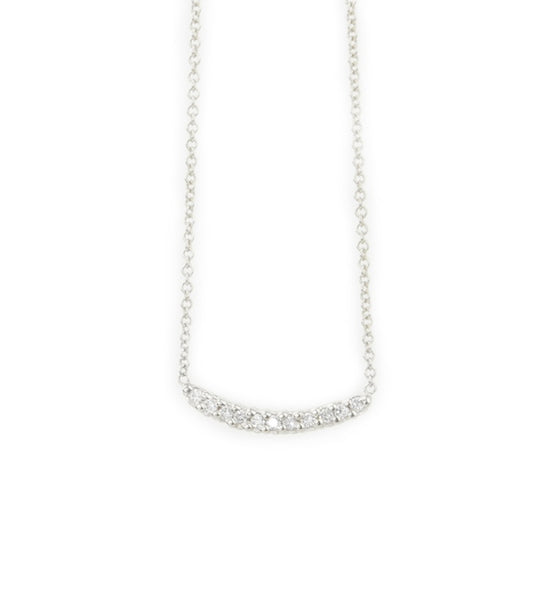 Molokini Mini Curved Bar Necklace 14K White Gold
