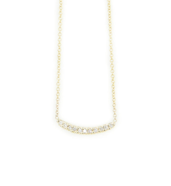 Molokini Mini Curved Bar Necklace 14K Yellow Gold