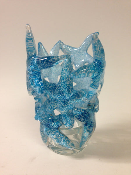 Light Blue Starfish Cluster Vase