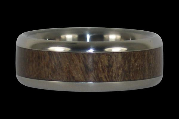 Ohia Wood Titanium Ring