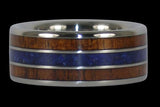 Big Kahuna Titanium Ring with Lapis