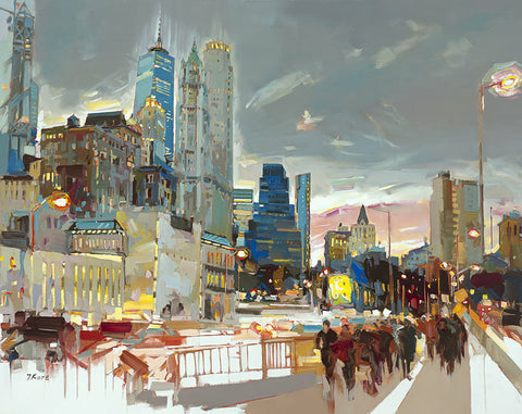 Dolphin Galleries Josef Kote  Skyline At Night
