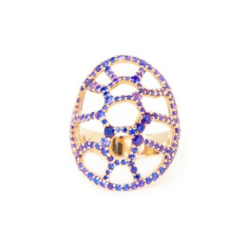 La Tortuga Cocktail Ring Blue