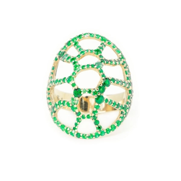 La Tortuga Cocktail Ring Green